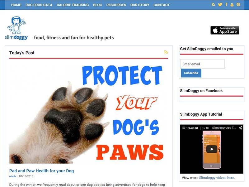 Slim Doggy - Website Screenshot