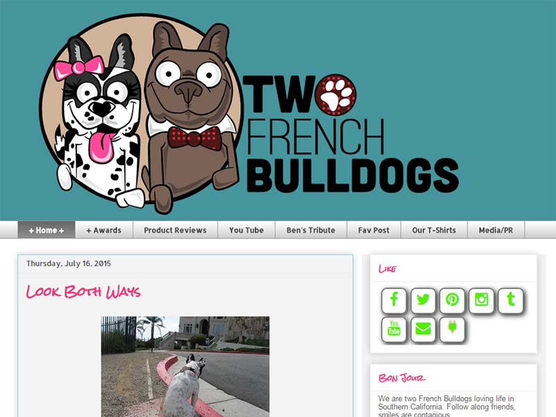 Two French Bulldogs - Website Screenshot