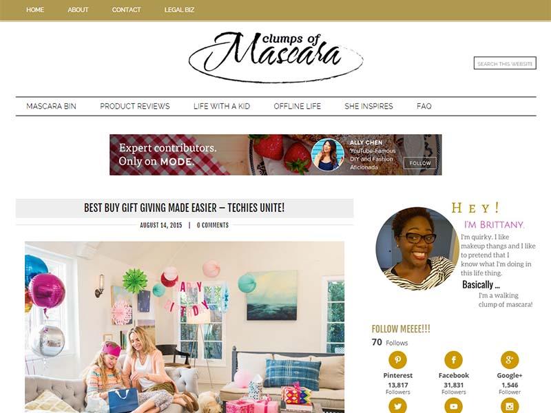 Clumps Of Mascara - Website Screenshot