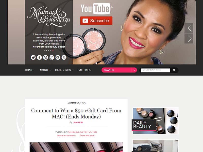 Makeup and Beauty Blog - Website Screenshot