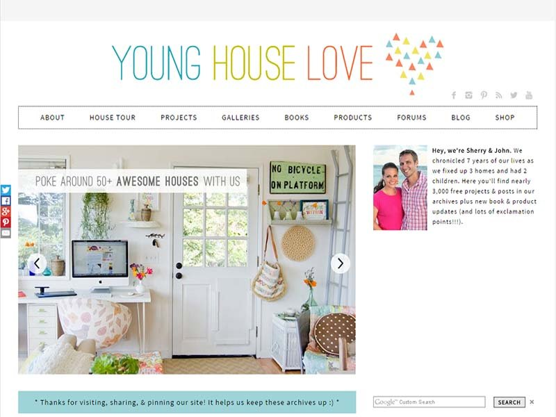 Young House Love - Website Screenshot