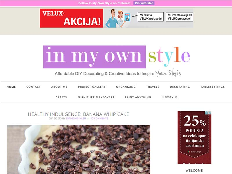 In My Own Style - Website Screenshot