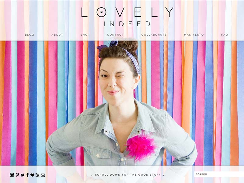 Lovely Indeed - Website Screenshot
