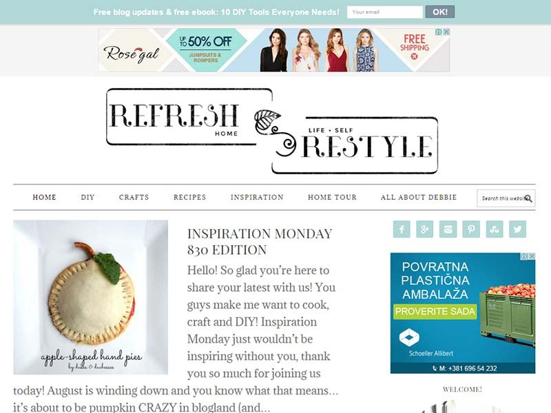 Refresh Restyle - Website Screenshot