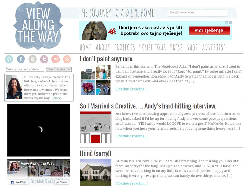 View Along The Way - Website Screenshot