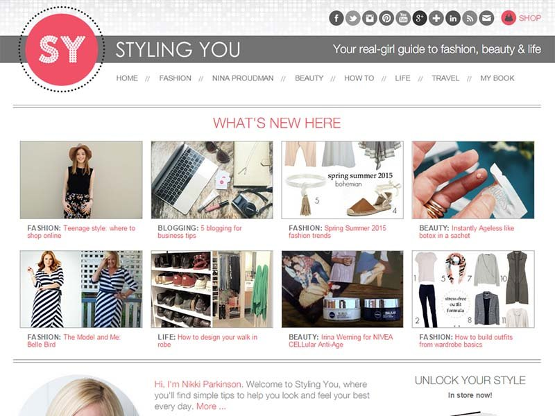Styling You - Website Screenshot