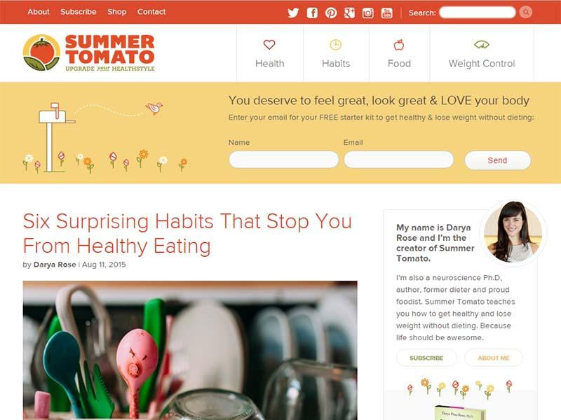 Summer Toamato - Website Screenshot