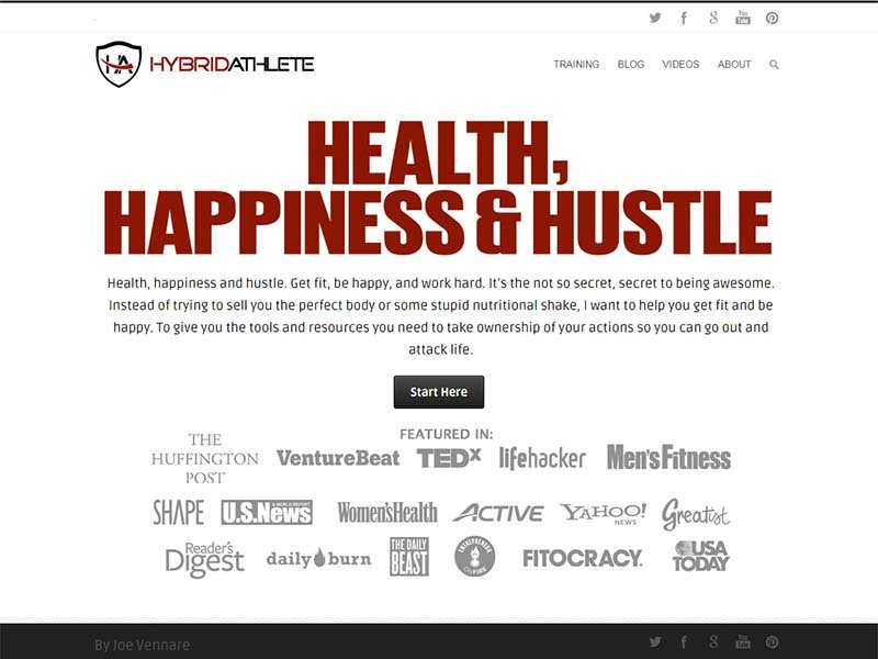 Hybrid Athlete - Website Screenshot