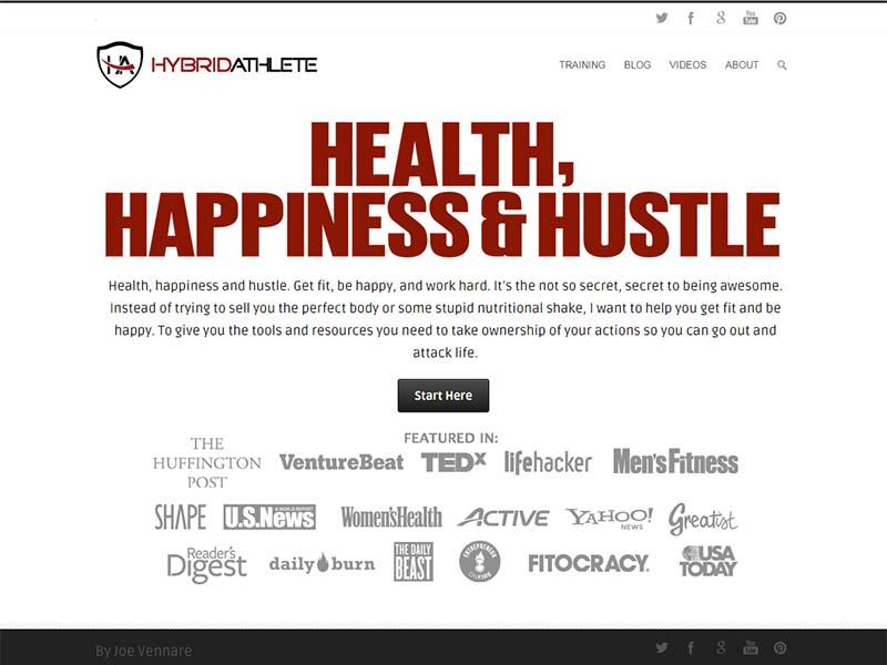 Hybrid Athlete - Website Screenshot