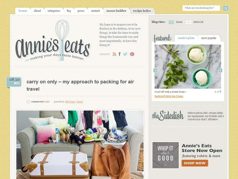 Annie's Eats - Website Screenshot
