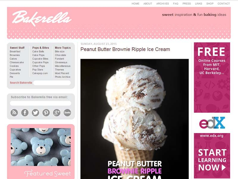 Bakerella - Website Screenshot