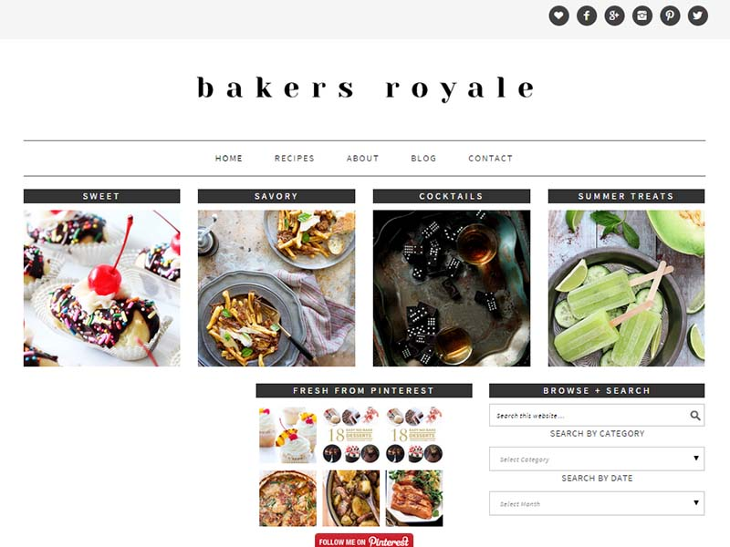Bakers Royale - Website Screenshot