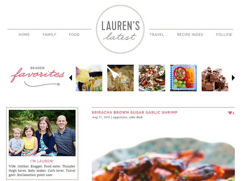 Lauren's Latest - Website Screenshot