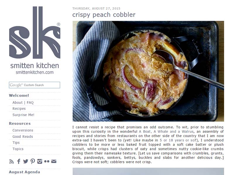 Smitten Kitchen - Website Screenshot