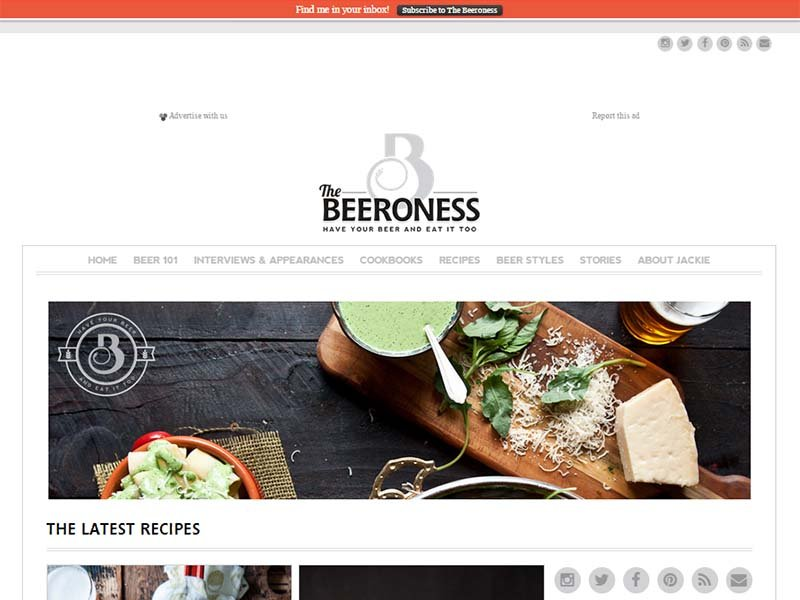 The Beeroness - Website Screenshot