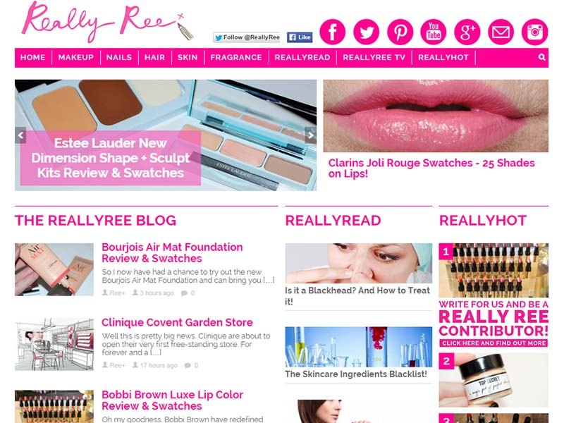 Really Ree - Website Screenshot