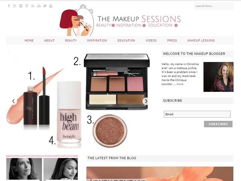 The Makeup Blogger - Website Screenshot