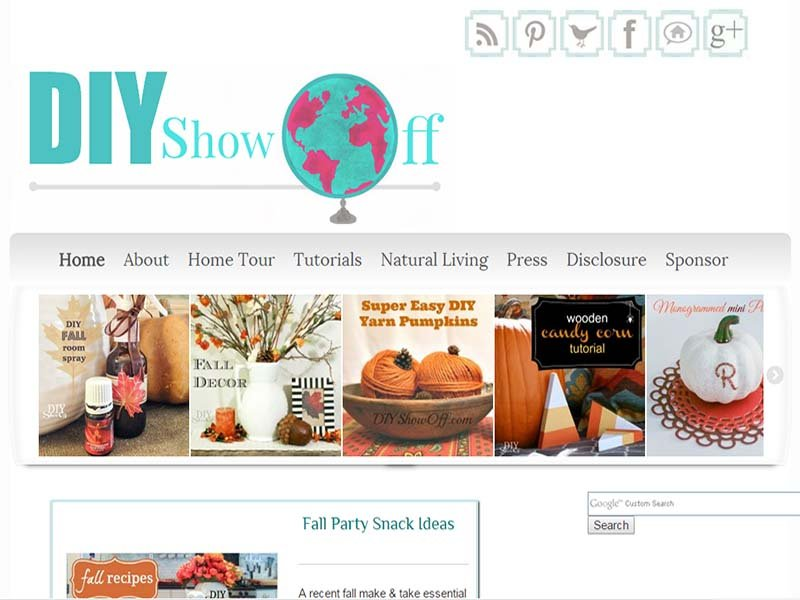 DIY Show Off - Website Screenshot