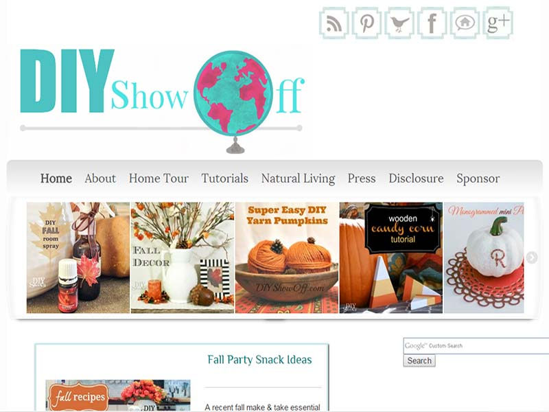 Beautiful DIY Show Off   Website Screenshot