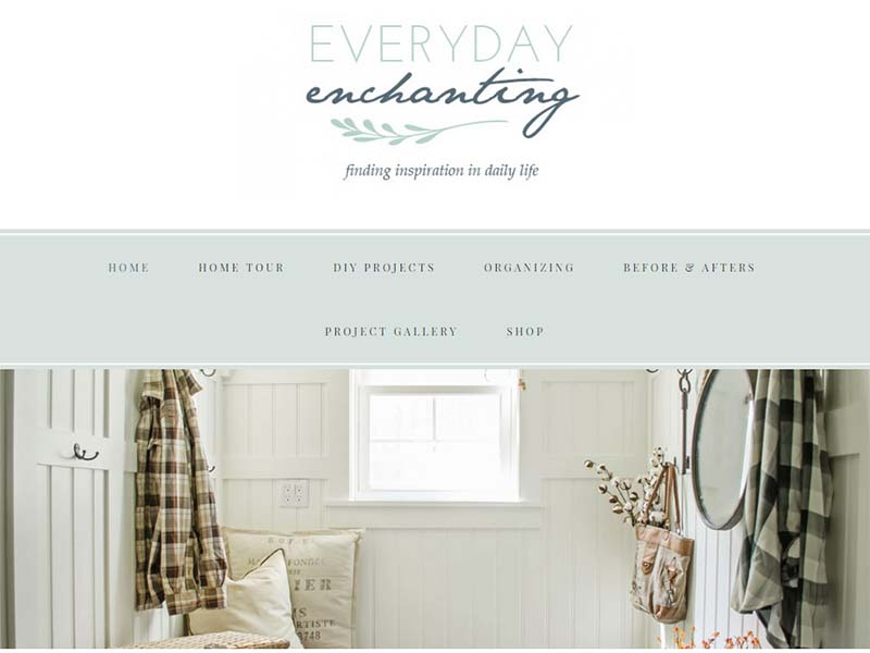 Everyday Enchanting - Website Screenshot