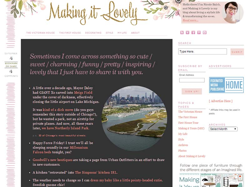 Making It Lovely - Website Screenshot
