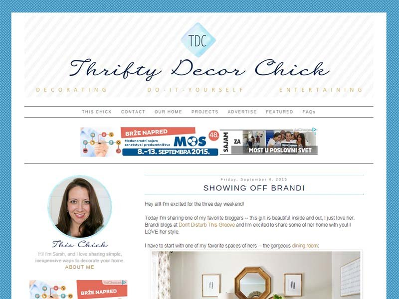 Thrifty Decor Chick - Website Screenshot