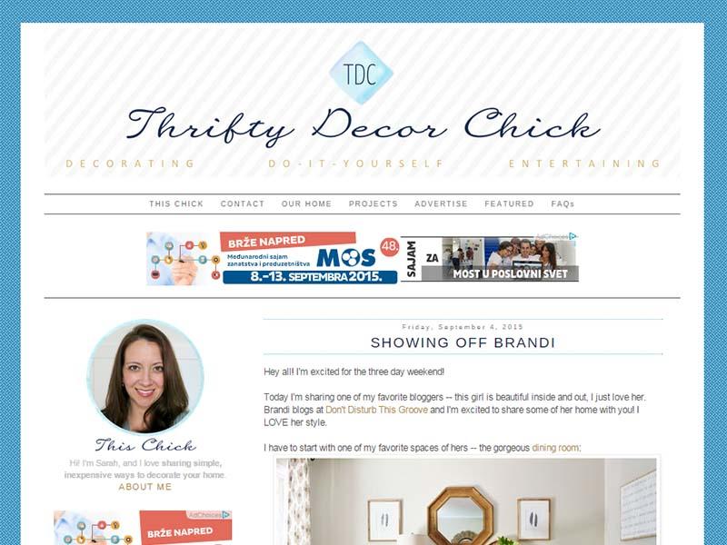 Thrifty Decor Chick - Website Screenshot