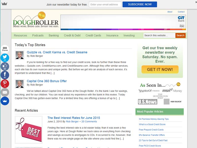 Dough Roller - Website Screenshot