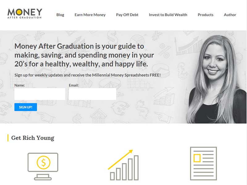 Money After Graduation - Website Screenshot