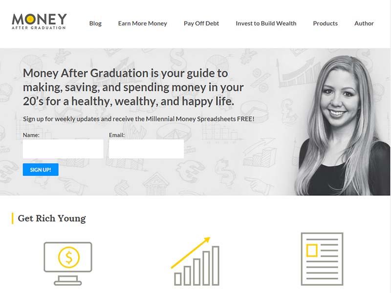 Money After Graduation - Website Screenshot