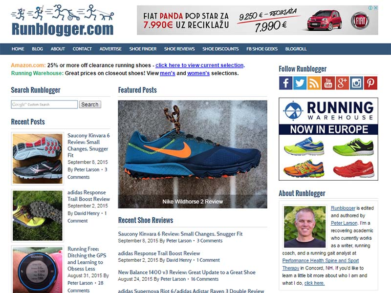 Run Blogger - Website Screenshot