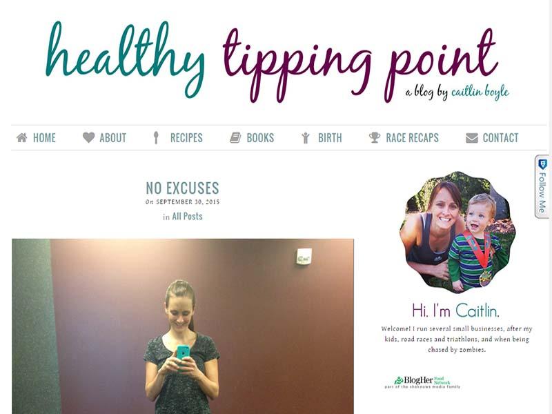 Healthy Tipping Point - Website Screenshot