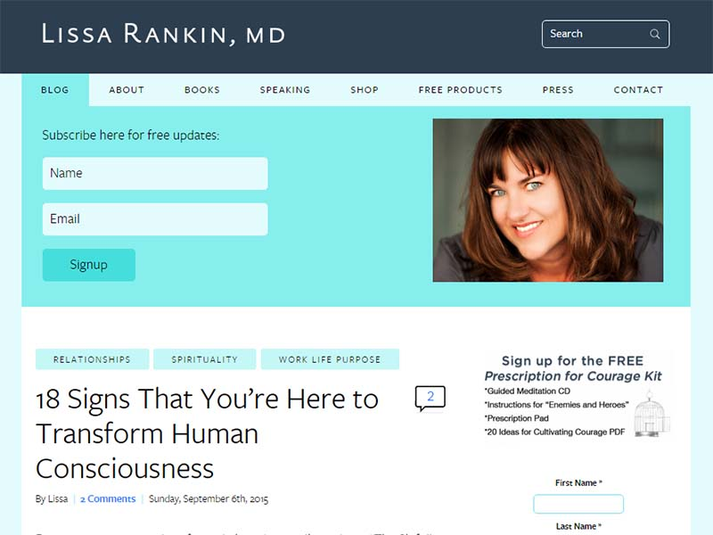 Lissa Rankin, md  - Website Screenshot