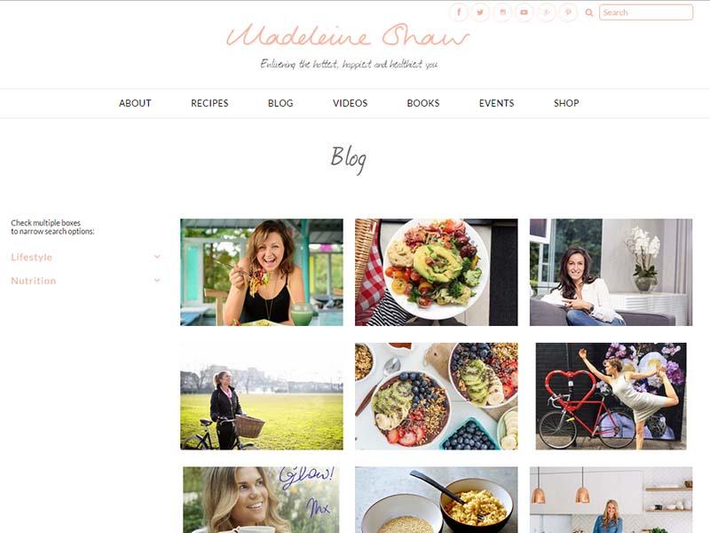 Madeleine Shaw - Website Screenshot