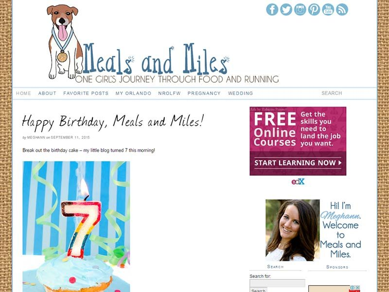 Meals and Miles - Website Screenshot