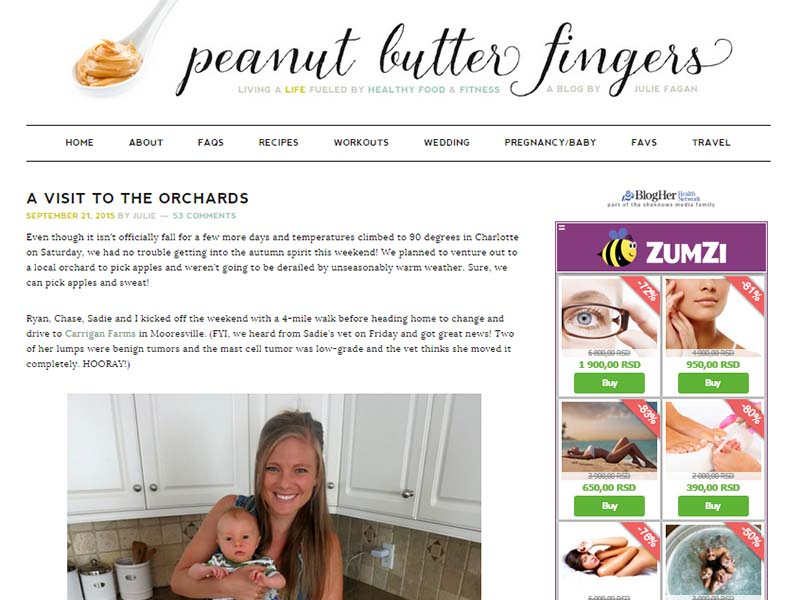 Peanut Butter Fingers - Website Screenshot