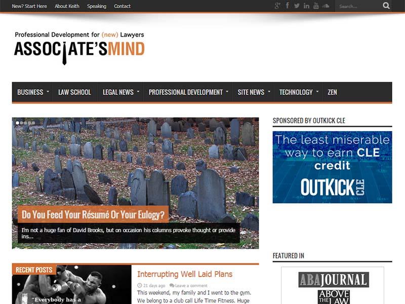 Associate's Mind - Website Screenshot