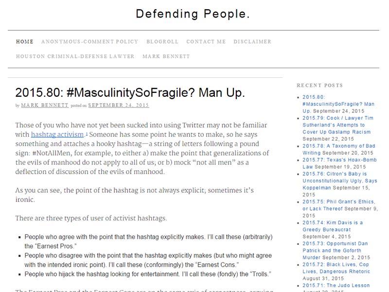 Defending People. - Website Screenshot