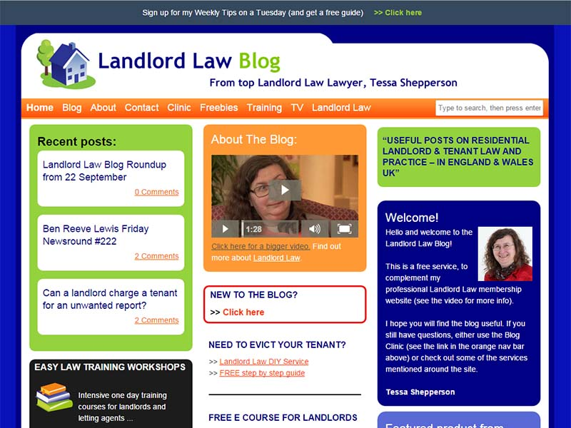 Landlord Law Blog - Website Screenshot