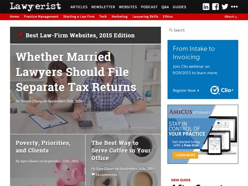 Lawyerist - Website Screenshot