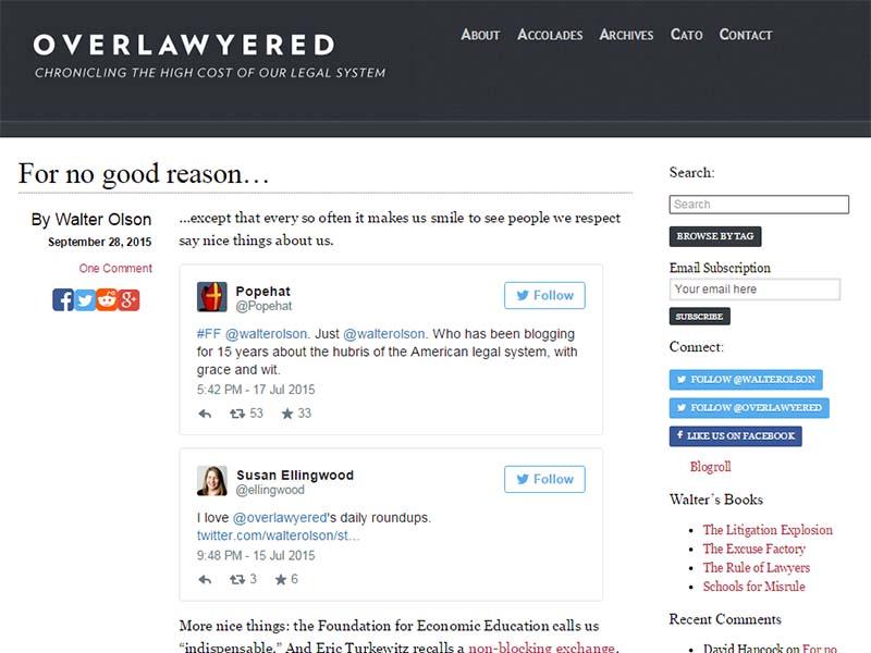 Overlawyered - Website Screenshot
