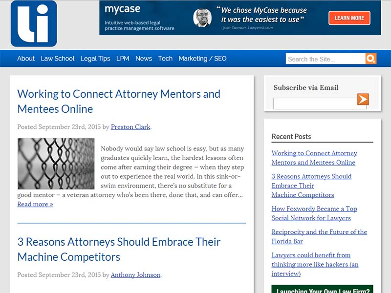The Law Insider - Website Screenshot