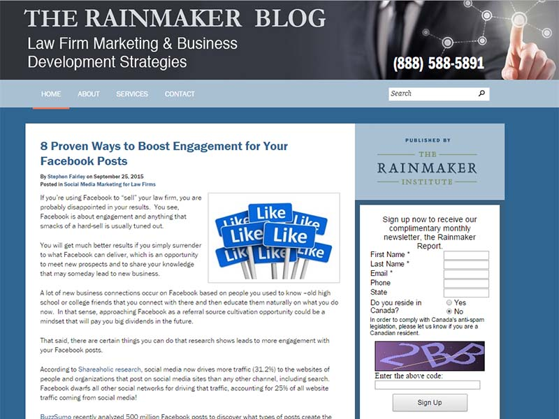 The Rainmaker Blog - Website Screenshot