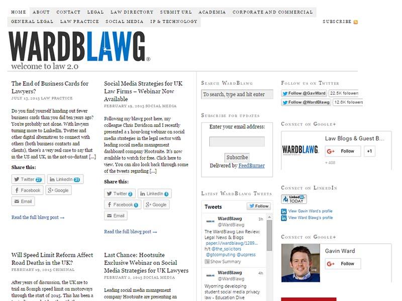 WardBlawg - Website Screenshot