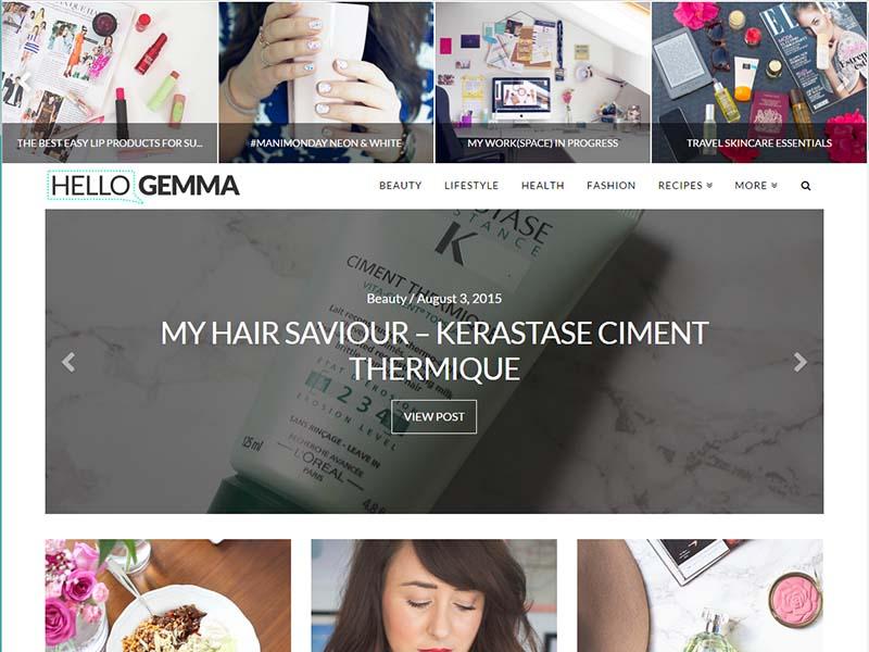 Hello Gemma - Website Screenshot