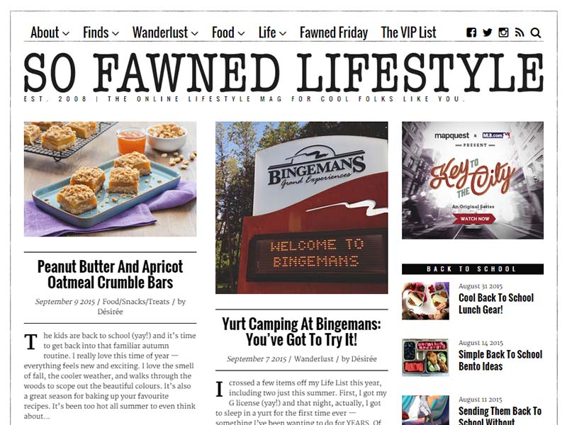 So Fawned Lifestyle - Website Screenshot