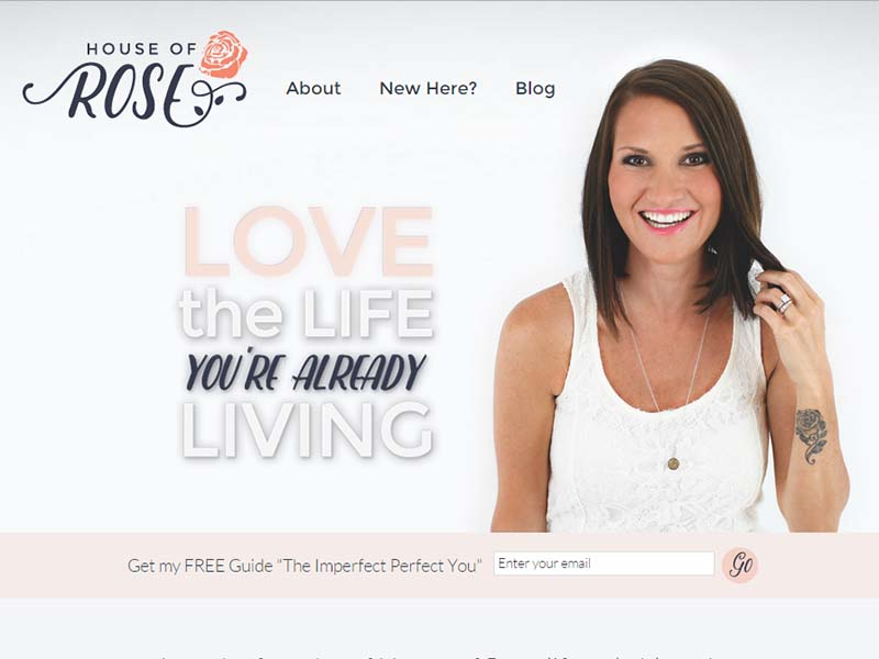 House Of Rose - Website Screenshot