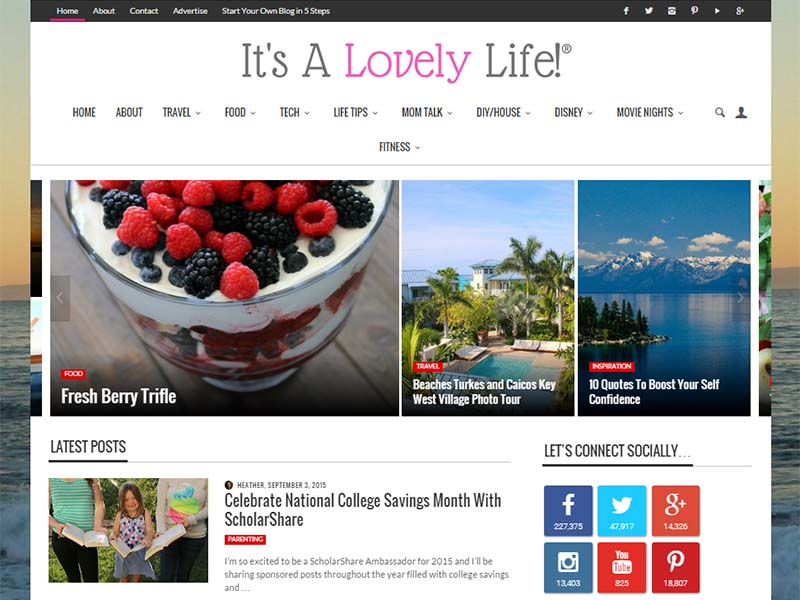 It's A Lovely Life - Website Screenshot