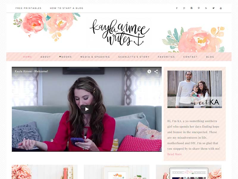 Kayla Aimee Writes - Website Screenshot