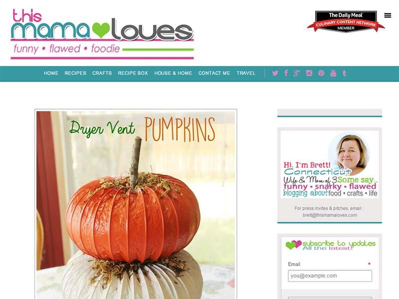 This Mama Loves - Website Screenshot